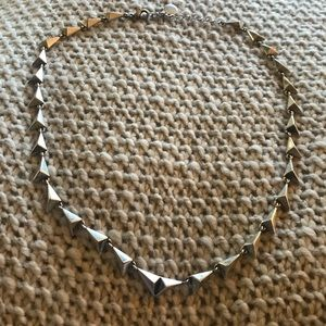 House of Harlow Triangle Silver Necklace